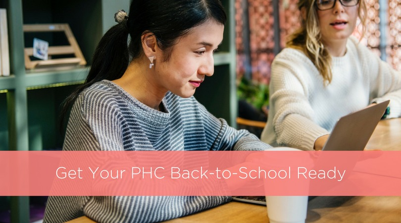 Get Your PHC Back-to-School Ready